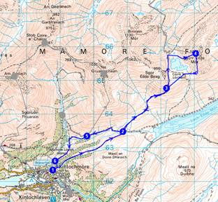 Our route up Sgurr Eilde Mor - 14km, 1154 metres ascent, 6.5 hours