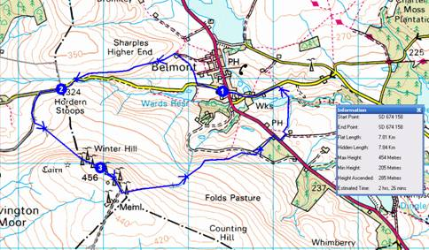 Winter Hill route