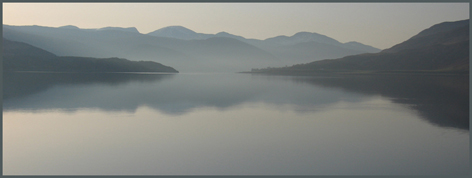 Early morning view over Loch Broom from Tigh na Mara
