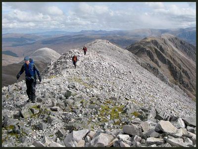 On the Beinn Liath Mhor ridge in Torridon