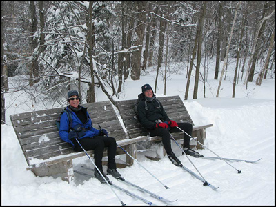 Taking a break on Trail 50 in Gatineau Park