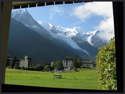 Mont Blanc, from John and Janet's flat in Chamonix