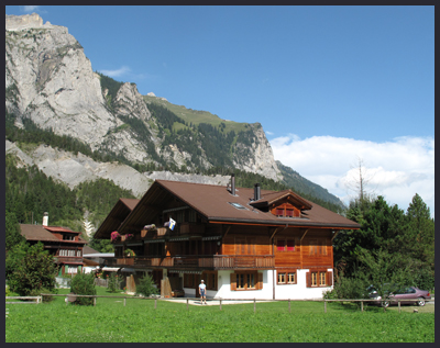 Peter and Anne's apartment in Kandersteg - available to rent