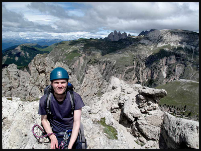 Mike on a Via Ferrata route