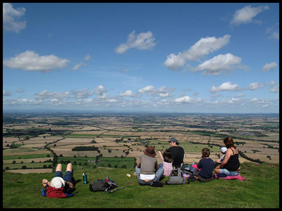 A classic English summer's view, from the top of The Wrekin