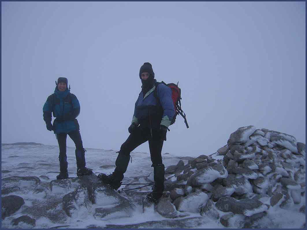 On the summit of Beinn nan Aighenan