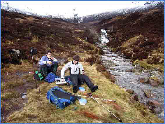 Coffee break in the Mamores