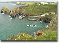View down to Mullion cove