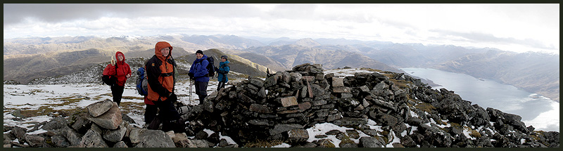 Panorama from the summit of Beinn Sgritheall
