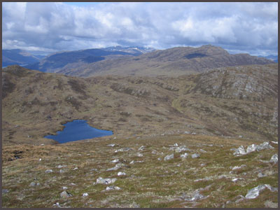 Looking back from Carn Gorm