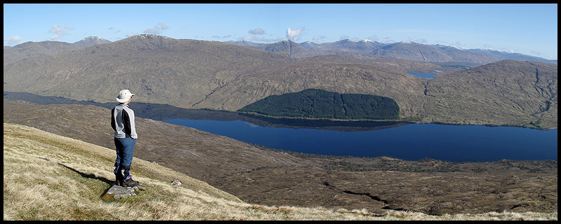 Sue looks out over Loch Arkaig