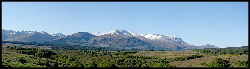 Ben Nevis from below the Commando Memorial