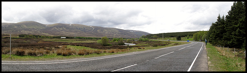 The road from Dalwhinnie