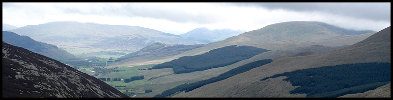 Glenshee from the slopes of Glas Tulaichean