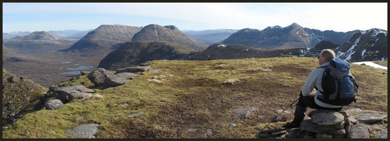 Panoramic view from Beinn Dearg