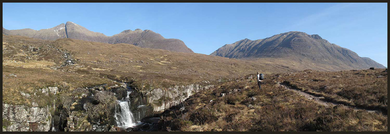 View from the path up Coire Mhic Nobuil