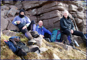 Sheltering from the wind on Quinag