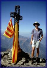 Sue on the summit of Canigou (2784m)