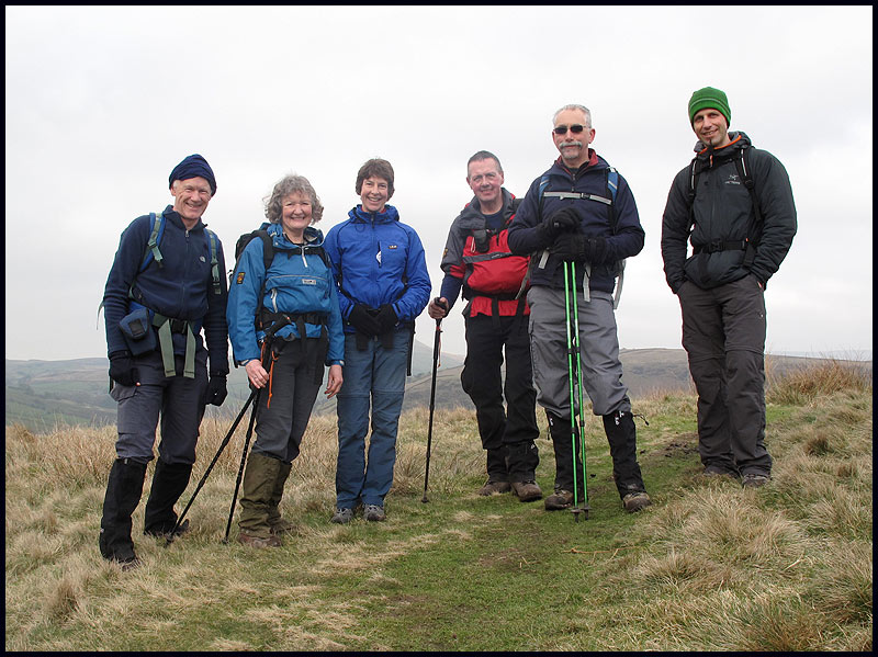 Wolfgang joins us in the Peak District - Left to Right: Martin, Viv, Sue, JJ, Rick, Wolfgang